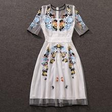 Buy kate middleton dress elegent long sleeve women Miranda Kerr european style high street floral lace party women elegant for $59.49 in AliExpress store