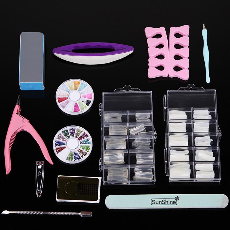 Moda 9 W secador de unhas Kit Nail Art cutícula empurradores calo barbeadores Dotting ferramentas strass decoração de unhas postiças
