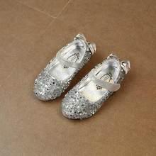 HaoChengJiaDe אופנה בנות סנדלי 2018 קיץ חדש קריסטל אחת נעלי ילדים ילדי פאייטים קוריאני פעוט תינוק נסיכת נעל(China)