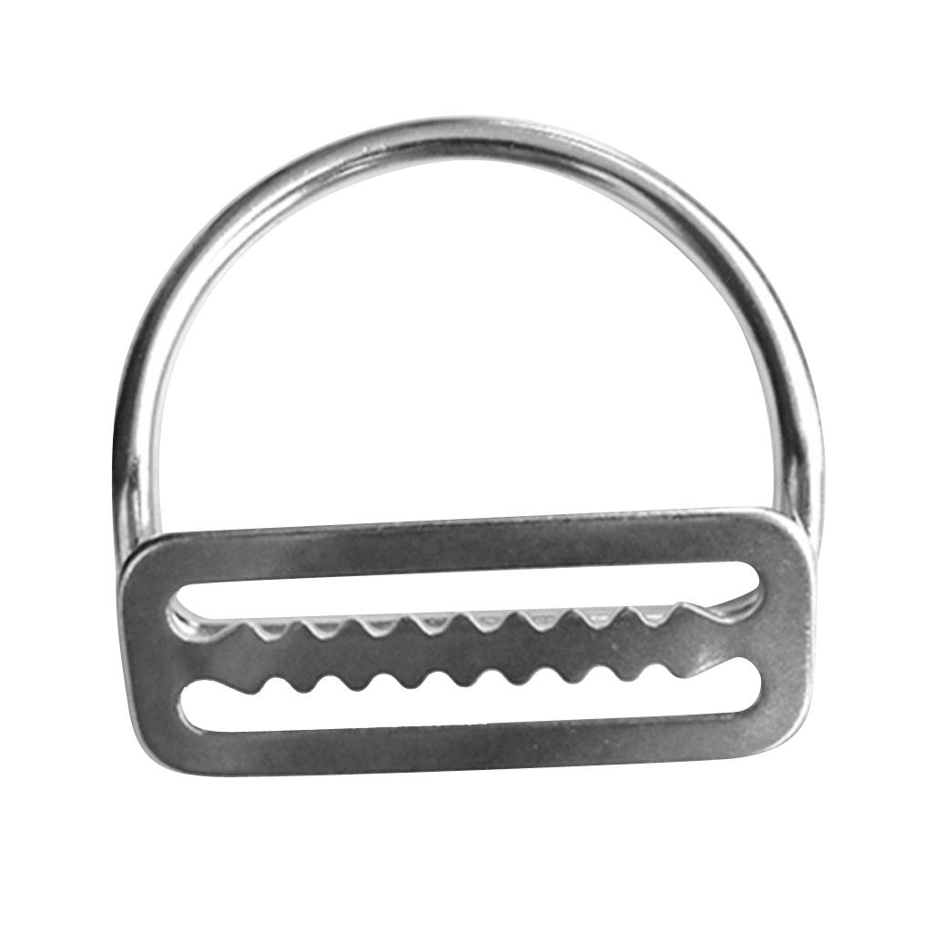Heavy Duty Diving 316 Stainless Steel Weight Belt Keeper Stopper & Bent D Ring Scuba Dive Gear Weight Belt Keeper