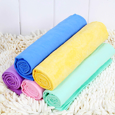 Car Cleaning Wash Towel Cham Synthetic Chamois Cloth in Multi Colors 43*32*0.2cm for household use/keep hair dry Free Shipping(China (Mainland))