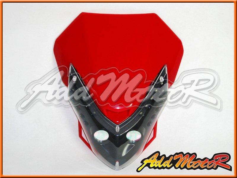 Red Universal Motorbike Streetfighter Headlight Fairing Enduro Cross LL12(China (Mainland))