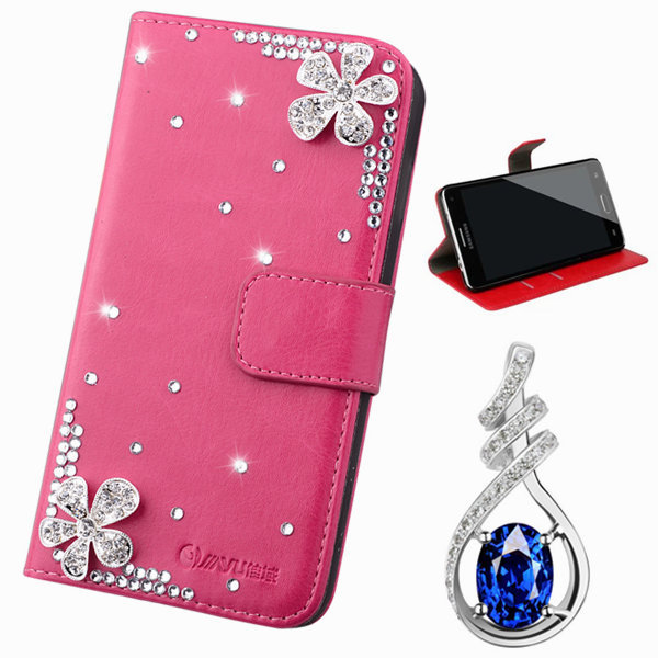 luxury Flower Floral PU leather Phone Bags & Cases For samsung galaxy Note 4 n9100 Mobile Accessories Crystal Flip Cover holster(China (Mainland))