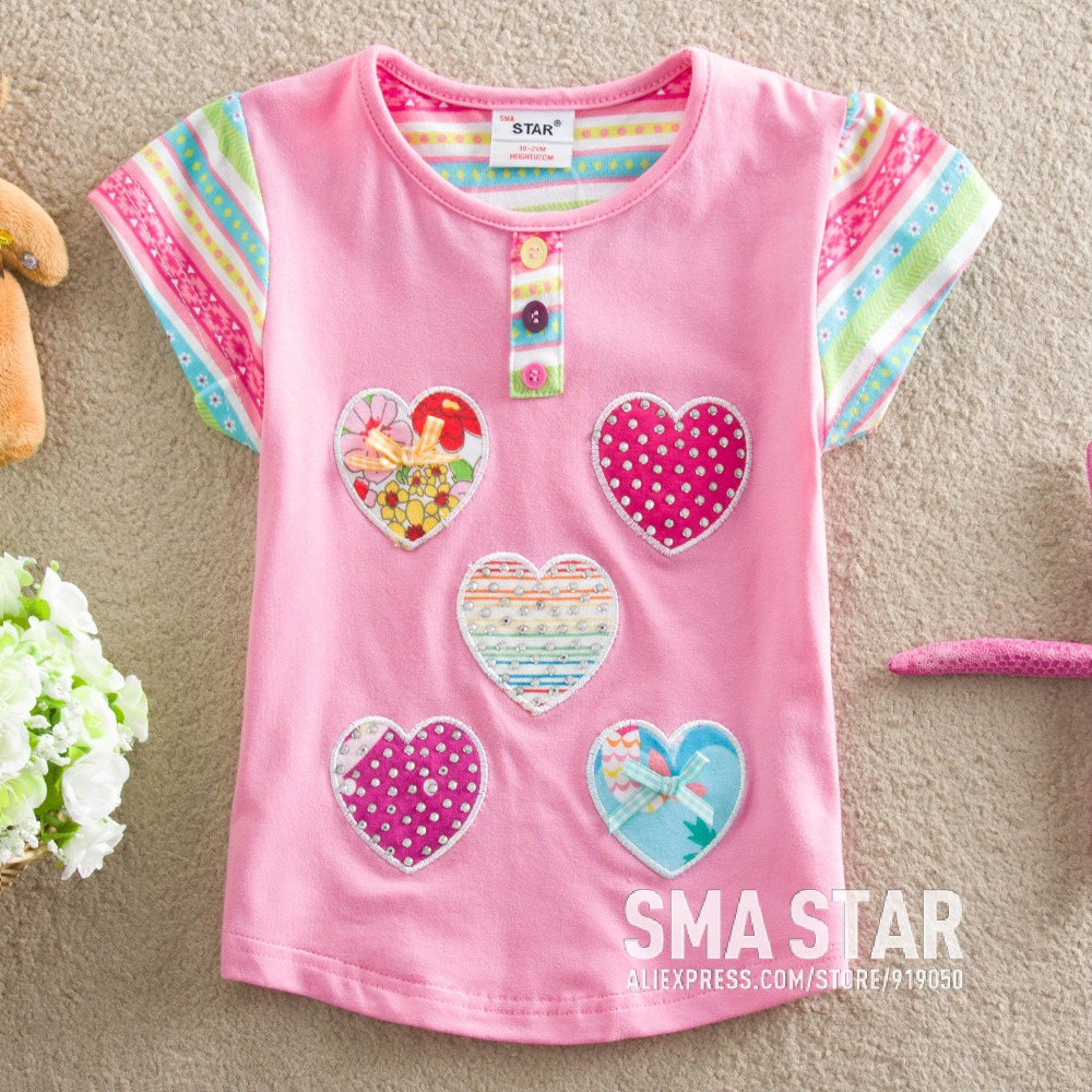Wholesale kids clothes girls lote summer children tee for Kids t shirts in bulk