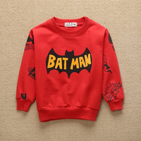 Kids Boys Sweatshirt Coat Shirt Cartoon Cool Batmen Baby Sweatshirts Moletom Children Kids Clothing Autumn Coat