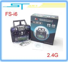 2014 New Version FS FlySky FS-i6 2.4G 6ch Transmitter and Receiver System LCD screen for RC helicopter VS FS-T6 Free sh toy gift