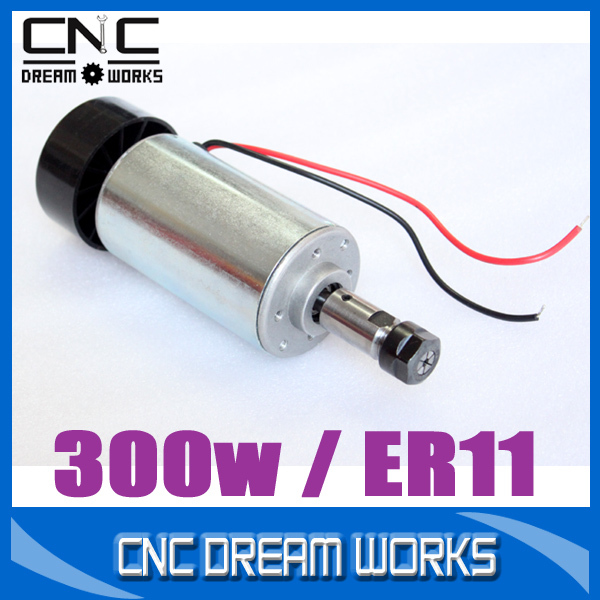 0.3KW cnc spindle motor 300W spindle motor DIY dc 12-48 cnc 300w spindle motor for PCB A025D(China (Mainland))
