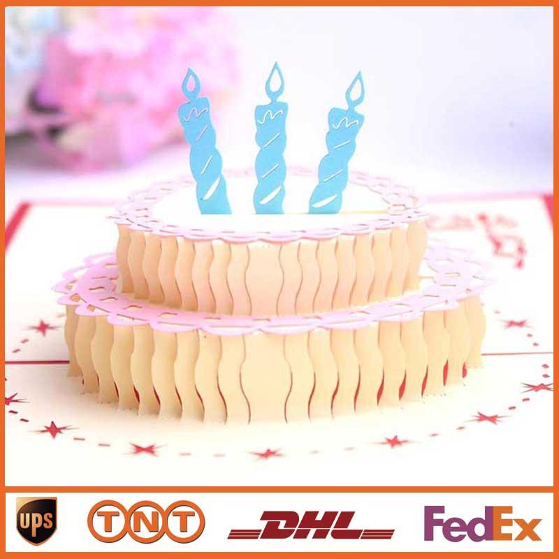 Pop Up Greeting Card 3D DIY Greeting Cards Happy Birthday