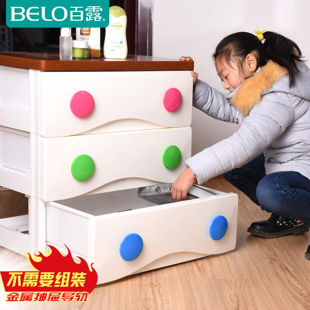 The new clothes toys cabinets Bailu plastic children wardrobe lockers baby cabinet drawer cabinet(China (Mainland))