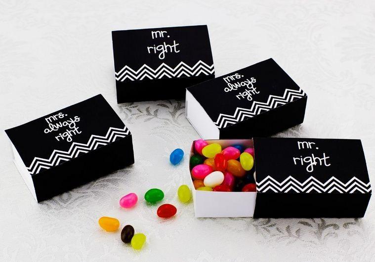 Free Shipping 100pcs/lot Wedding Mr Right&Mrs Always Right Favor Box Small Party Candy Box Chocolates box(China (Mainland))