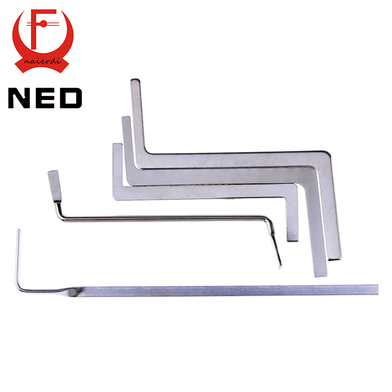 NED 5pcs Locksmith Tools Stainless Steel Double Row Tension Tool Removal Hooks Lock Kit(China (Mainland))