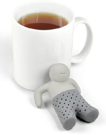 Teapot cute Mr Tea Infuser Tea Strainer Coffee Tea Sets silicone fred mr tea