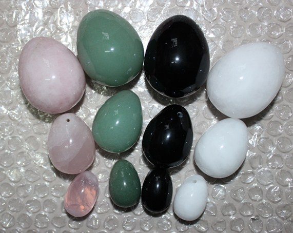 mixed material 100% natural jade egg for Kegel Exercise 3pcs(1set) pelvic floor muscles vaginal exercise yoni egg ben wa ball