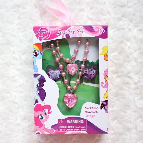 Здесь можно купить  New 20 sets My little pony cartoon Necklaces + Bracelets + Rings  Fashion  Set  Ювелирные изделия и часы