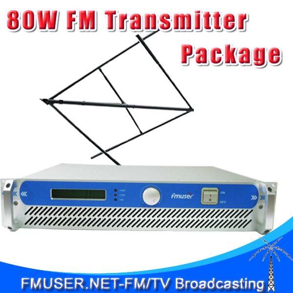 Оборудование для Радио и Телевещания FMUSER 2U fsn/801 80W FM + CP100 + syv/50/5 15 FSN-801 fmuser rf 300w fsn 300 professional fm broadcast radio transmitter dp100 1 2 wave two bay dipole antenna 20 meters cable
