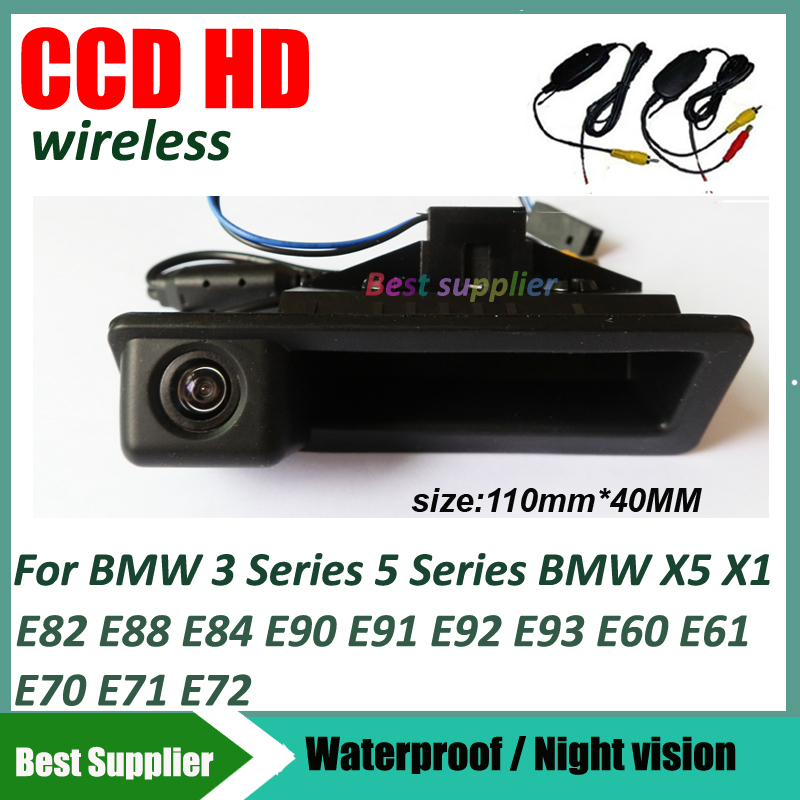 2.4Ghz Wireless car parking rearview camera for BMW 3 Series 5 Series BMW X5 X1 E82 E88 E84 E90 E91 E92 E93 E60 E61 E70 E71 E72(China (Mainland))