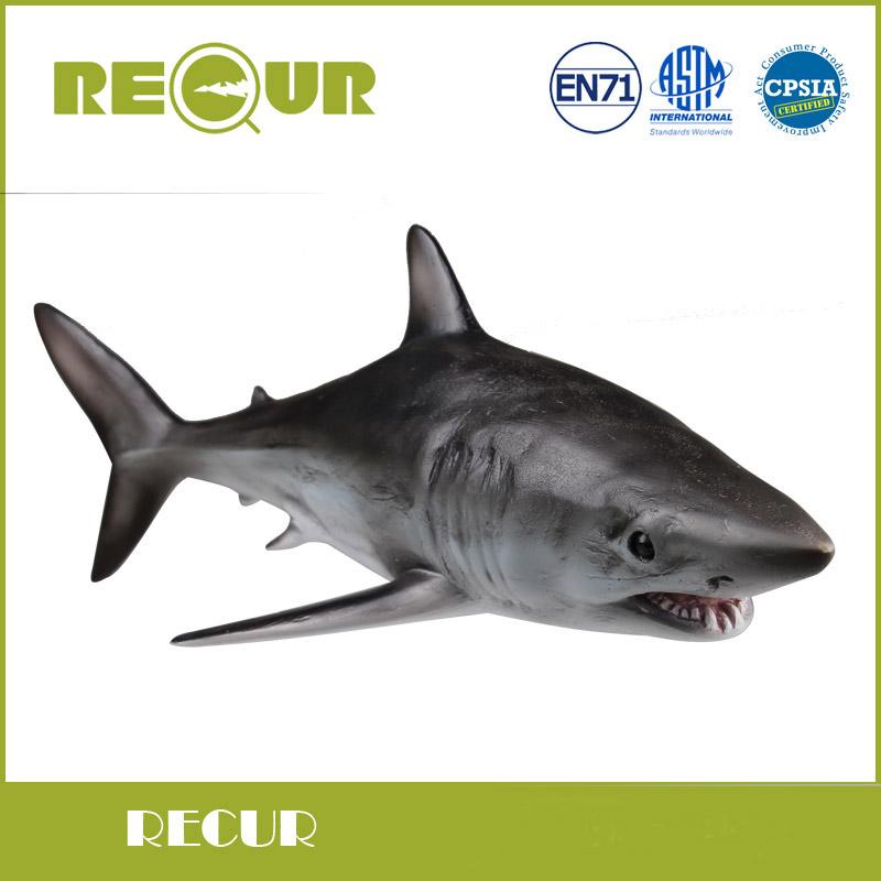 Recur Toys Mako Shark Marine Animal Model Hand Paind Soft PVC Sea Life Animal Action & Toys Figure For Kids Early Education(China (Mainland))