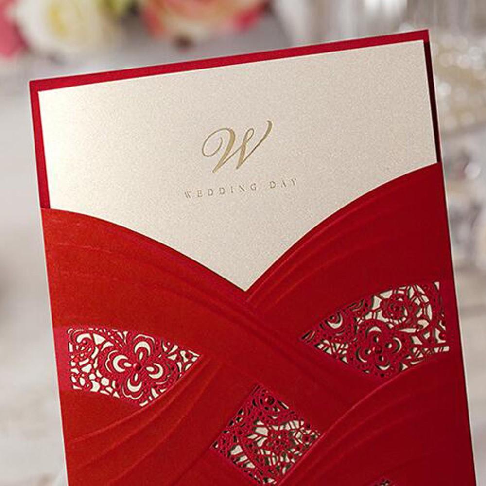 Wholesale Sample Elegant Laser Cut Personalized Wedding Invitations ...