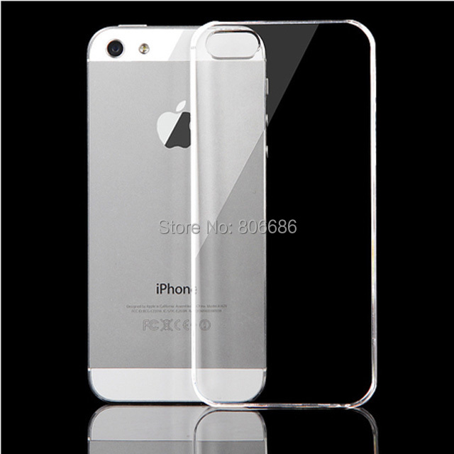 Ultra Thin For iPhone 5/5s/6/6 plus/5c/4/4s PC Transparent Clear Crystal Ultra Thin Glossy Snap hard Case Cover for iPhone 5 5S(China (Mainland))