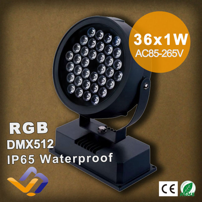 Wholesale price!Waterproof IP65 LED flood lamp 36W RGB colorful High lumens outdoor Landscape Lighting AC85-265V DMX control<br><br>Aliexpress