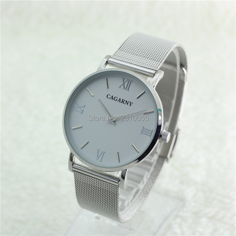 Super Slim Quartz Casual Wrist Watch Simple CAGARNY Brand Stainless Steel Quartz Watch Men's 2016 Relojes Hombre