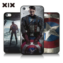2016 fashion mobile phone cover for iPhone6 plus The Avengers Captain America PC back skin cover for iPhone 6s Plus iPhone case