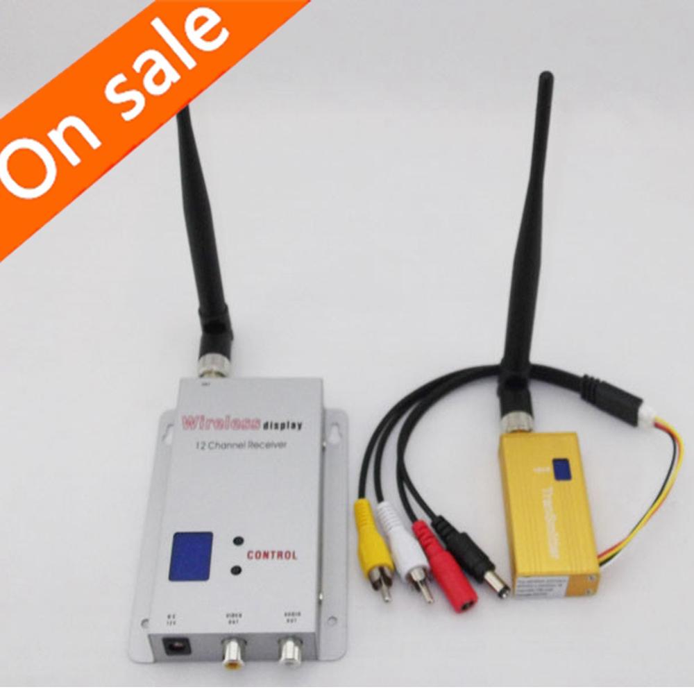 Wireless Audio Video AV Transmitter Receiver Sender Set 16-ch 1.2ghz 700mw (Dc 12v) for CCTV Camera DVR FPV DVD(China (Mainland))