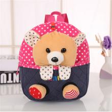 2016 Cartoon Kid School Backpack Child School Bag For Kindergarten Girl Baby Student School Boy Cute bear Backpack mochila (China (Mainland))