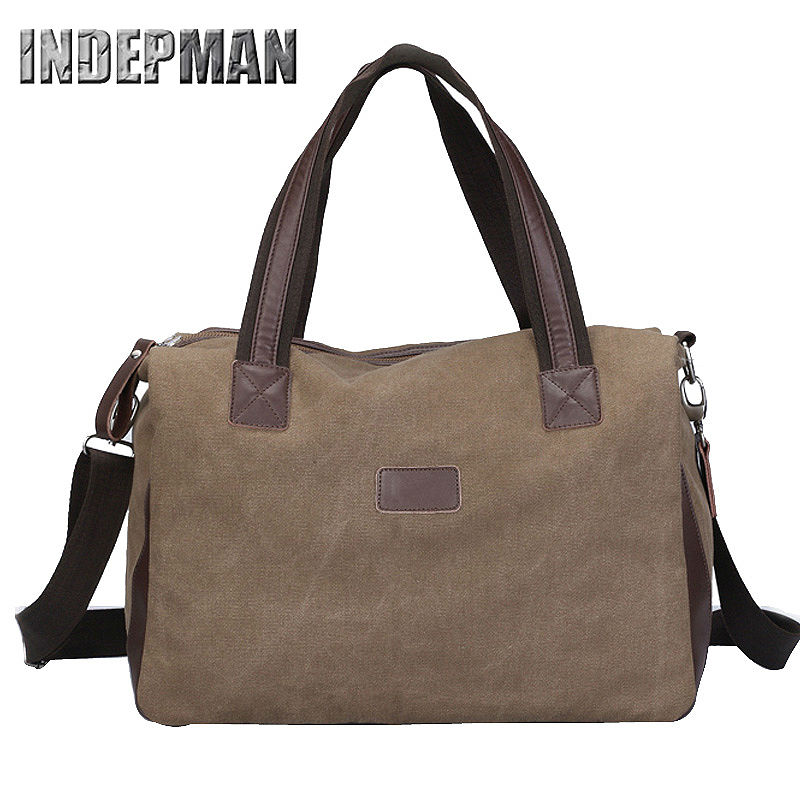 Hot Sale 2016 Vintage Canvas Messenger Bag Men Large Capacity Retro Handbag Solid Zipper Shoulder Bag Casual Tote Women Purse(China (Mainland))