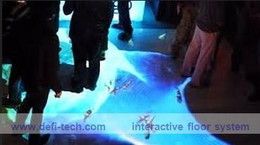 DEFI copyright Interactive floor Projection system for wedding, advertising, kids 120 different effects(China (Mainland))