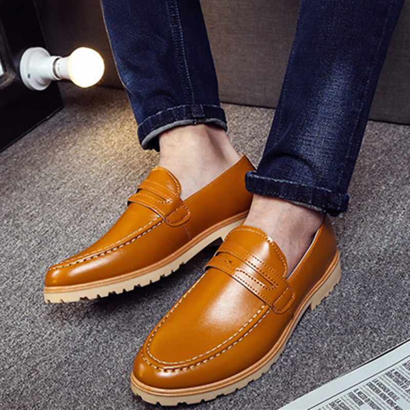 High Quality Oxfords Shoes British Style Carved Genuine Leather Shoe Brogue Bullock Shoes Bullock Business Men's Flats#SJL186(China (Mainland))