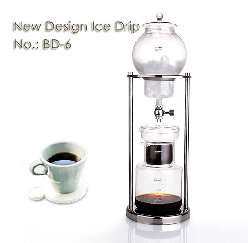 Glass Pot For Coffee Maker : NEW ARRIVAL Stainless steel double column ice drip coffee maker coffee pot iced glass coffee ...