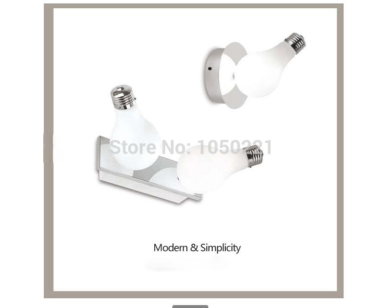 Glass Wall Lamps Modern Creative Bulbs Corridor Aisle Single Head
