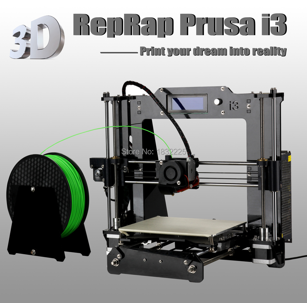 Auto leveling High Precision Reprap Prusa i3 DIY 3d Printer kit impressora 3d with 2 Roll