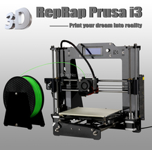 Laser engraving+ Auto leveling High Precision Reprap Prusa i3 DIY 3d Printer kit with 2 Roll Filament 8GB SD card+LCD for Free