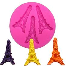 Free shipping beautiful Eiffel Tower nonstick silicone fondant cake decorating Kitchen Accessories FT-176