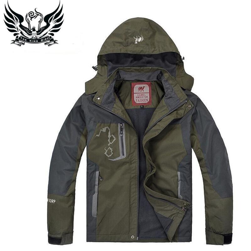 2016 New Spring & Autumn Camping Mountain Jacket Men Outdoor jacket Sportswear+Velvet Waterproof Windbreaker Outerwear D72001(China (Mainland))