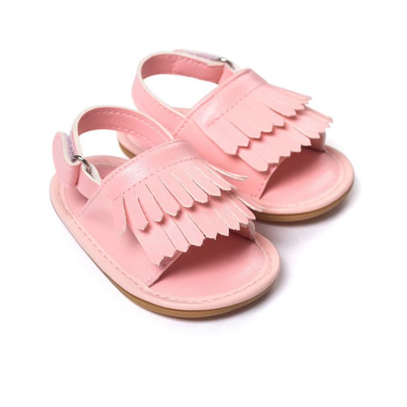 2016 Summer Children Shoes Prewalker Fashion PU Leather Baby Shoes Girls Princess Tassel Crib Shoes