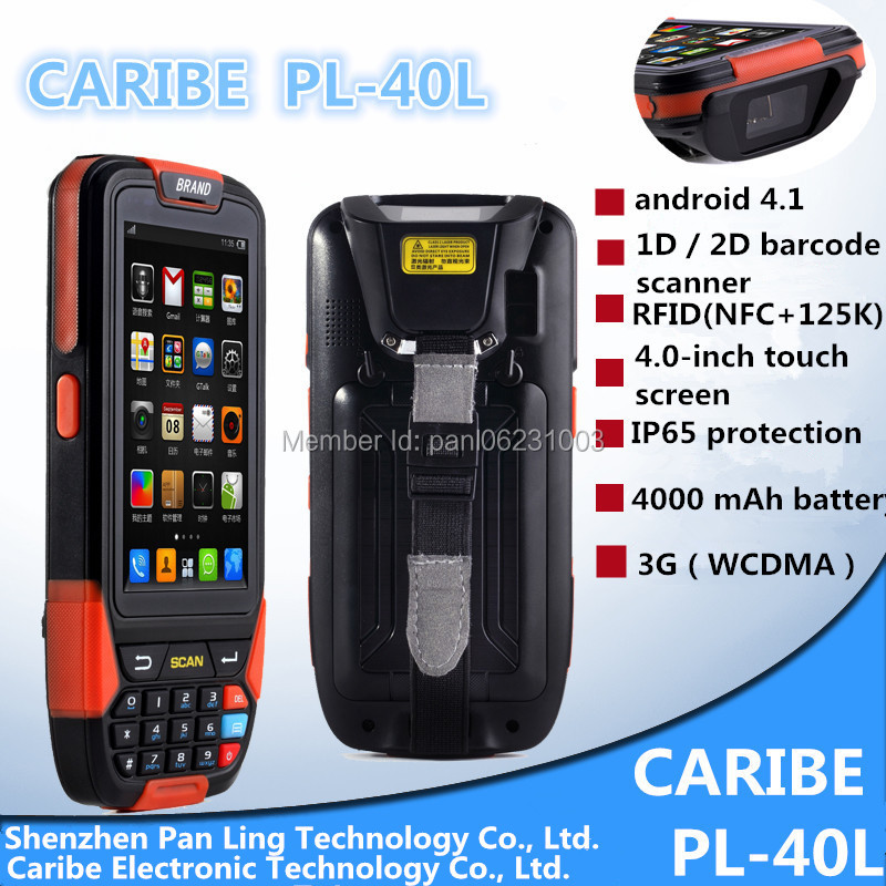 Caribe PL-40LAa055 wireless Rugged Durable android OS pda, Industrial mobile computer with GPS with 2d barcode scanner(China (Mainland))