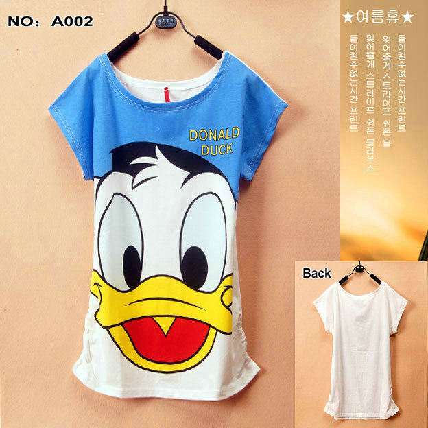 A002 2015 New Donald Duck shirts tees Women women topsT-shirts Women's Printed T Shirts - Lanmo store