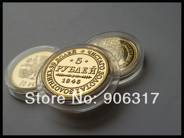 1000pcs/lot Free shipping High quality 1846 Gold clad Replica Russian Souvenir coins