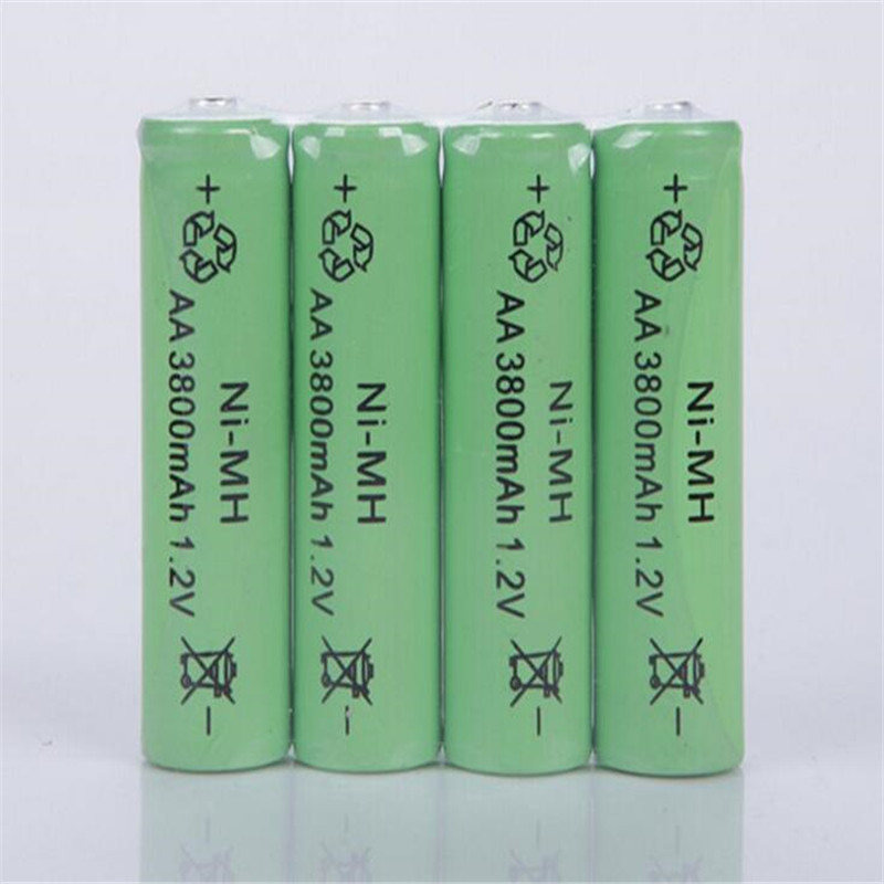 10PCS 1.2V AA Rechargeable 3800mAh 2A Neutral Battery Rechargeable battery aa batteries Free shipping(China (Mainland))