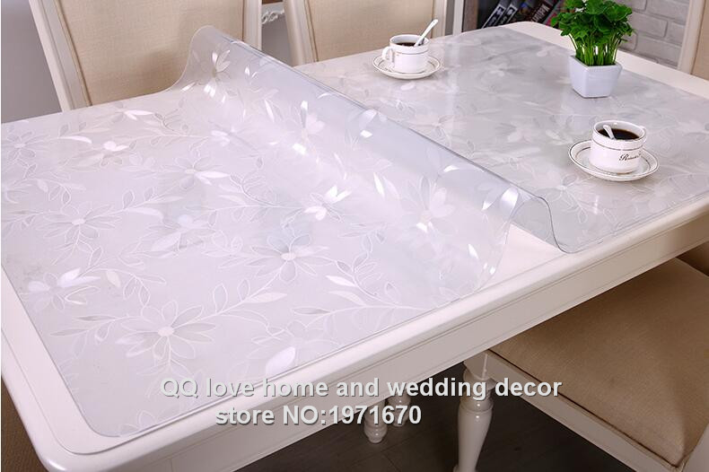 Acheter Table Basse Transparente ~ Soft Transparent Glass Table Cloth Waterproof Disposable Plastic Table