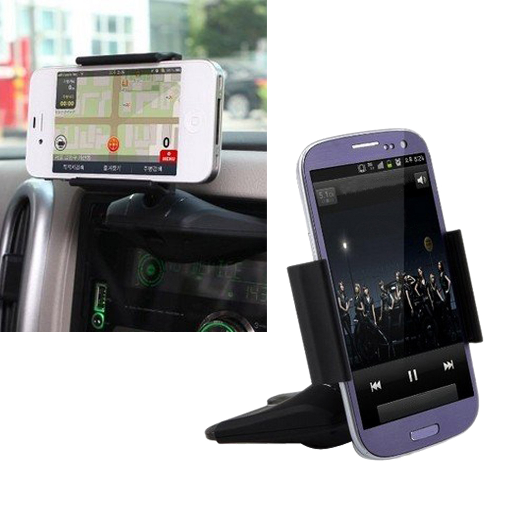 "Universal CD Slot 3.5""-5.5"" Adjustable Vehicle Mount Automobiles Stand Bracket Car Phone Holder for MP3 MP4 Mobilephone GPS(China (Mainland))"