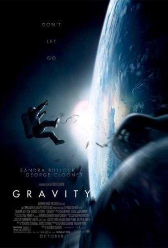 Gravity Movie POSTER Classic Retro Sandra Bullock George Clooney Ed Harris Home deco 24x36 inch PRINT ON SILK(China (Mainland))