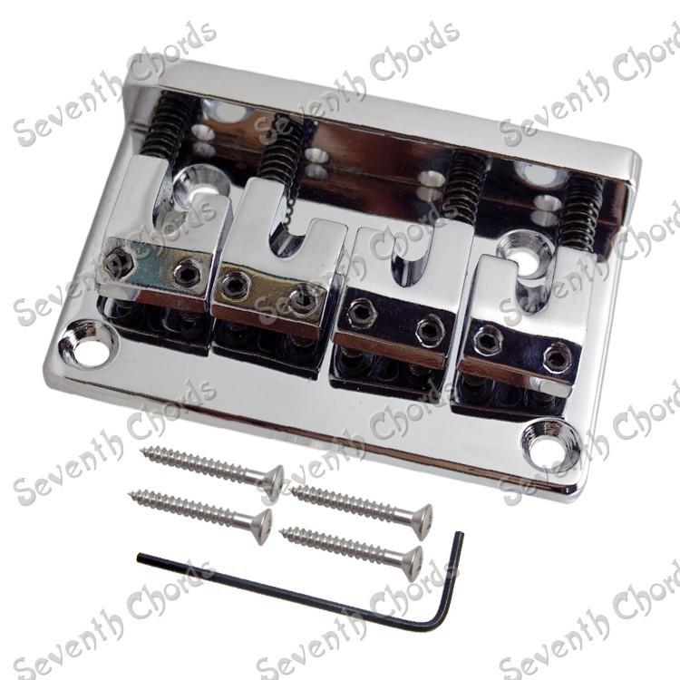 A set Quality Chrome 4 String Bass Bridge For Bass Guitar L Shape Saddle(China (Mainland))