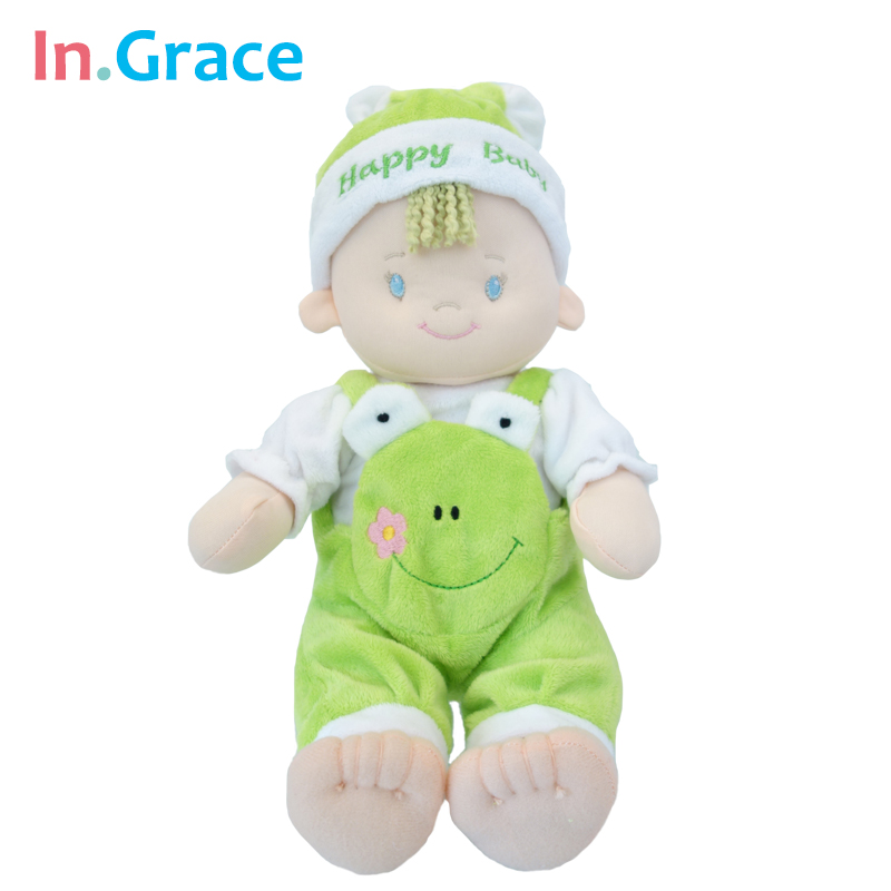2016plush stuffed baby doll toys high quality super soft baby sleep calm dolls four colors baby born doll free shipping 10 inch(China (Mainland))
