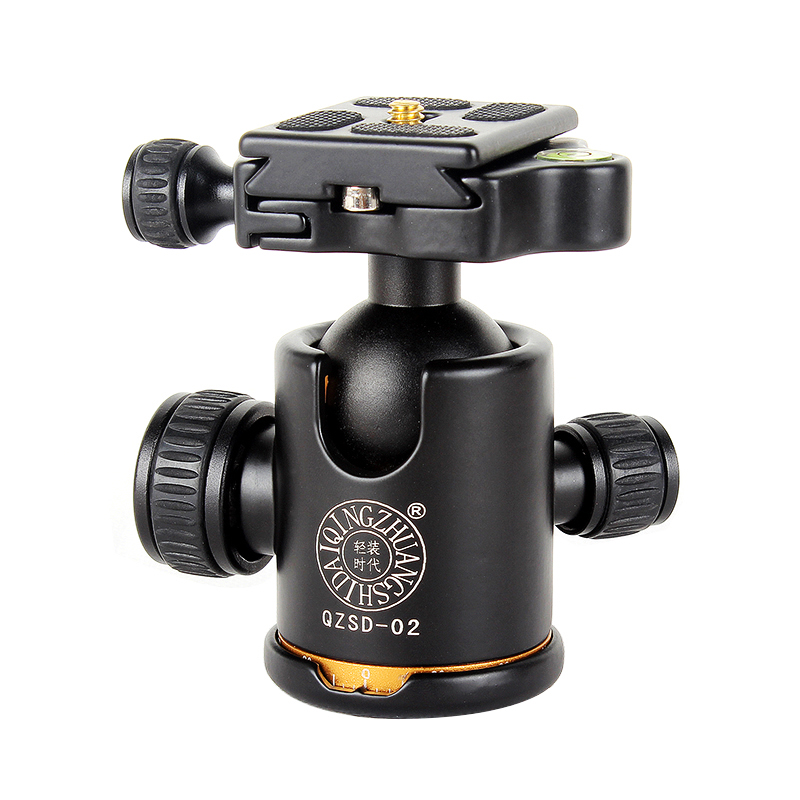 "New QZSD Q02 Camera Tripod Ball Head Ballhead with Quick Release Plate 1/4"" Screw Max Load 8kg / Original Q999 Q666 Tripod Head от Aliexpress INT"