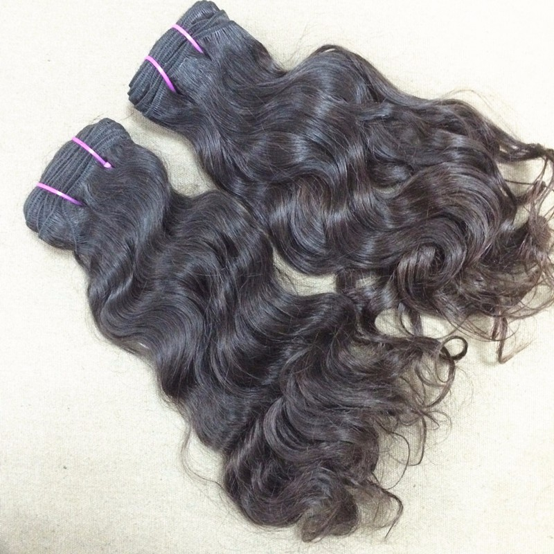 New Arrival 2 Pcs Indian Curly Virgin Hair ; 100% Unprocessed Raw India Temple Hair Natural luster Bouncy Curl 12-22″ available