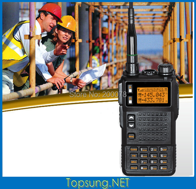 2014 New10W Big Power Tri-band two way radio transmitter with DTMF/ ANI /Scramble function+Li-on battery Free shipping